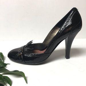Barbara Bui Black Patent Leather Kiltie Heels